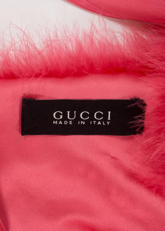 Tom Ford for Gucci Spring-Summer 2004 hot pink marabou bolero jacket  10