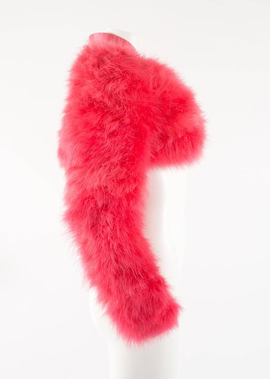 Tom Ford for Gucci Spring-Summer 2004 hot pink marabou bolero jacket  6