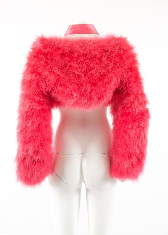 Tom Ford for Gucci Spring-Summer 2004 hot pink marabou bolero jacket  7