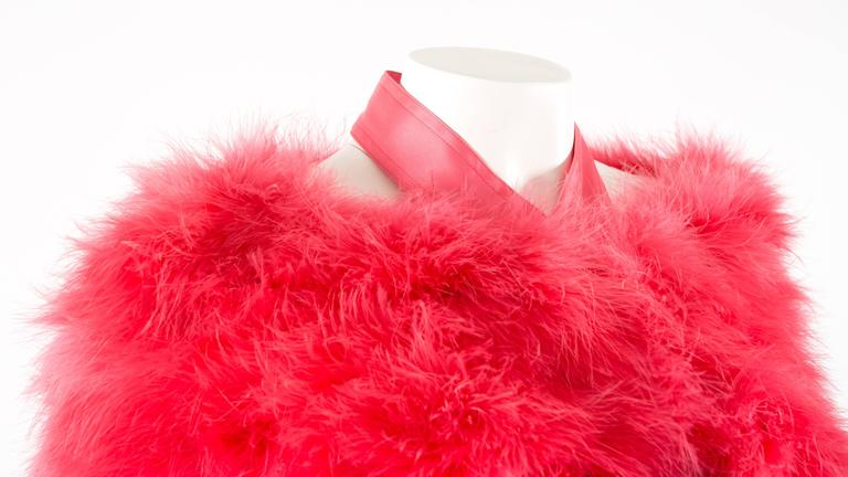 Tom Ford for Gucci Spring-Summer 2004 hot pink marabou bolero jacket  5