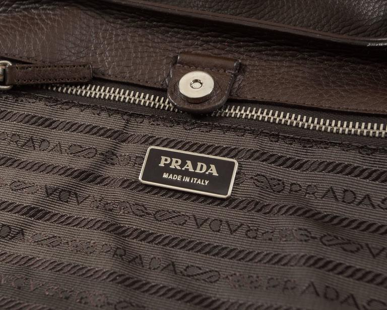 Prada Spring-Summer 2003 brown leather metal bar bag 9