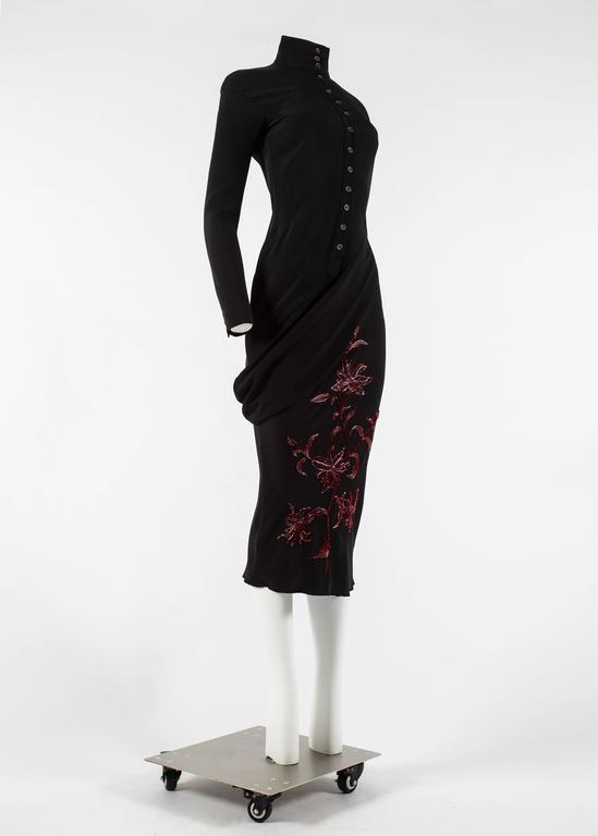 Alexander McQueen Autumn-Winter 1998 'Joan' beaded evening dress In Excellent Condition For Sale In London, GB