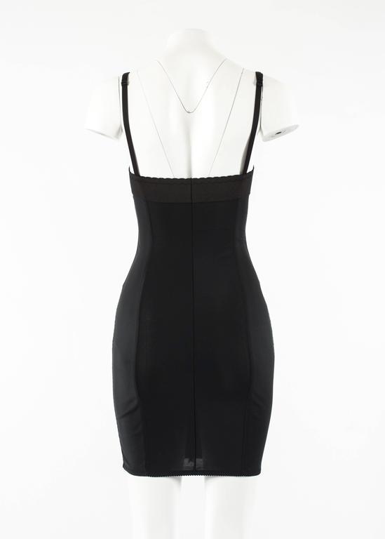 Dolce & Gabbana Spring-Summer 2003 black corset evening dress For Sale 1
