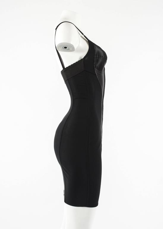 Women's Dolce & Gabbana Spring-Summer 2003 black corset evening dress For Sale