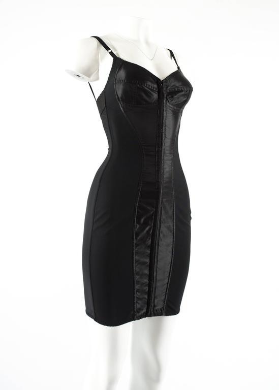 Black Dolce & Gabbana Spring-Summer 2003 black corset evening dress For Sale
