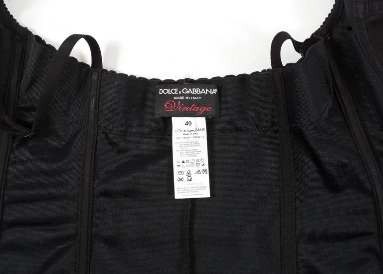 Dolce & Gabbana Spring-Summer 2003 black corset evening dress For Sale 2