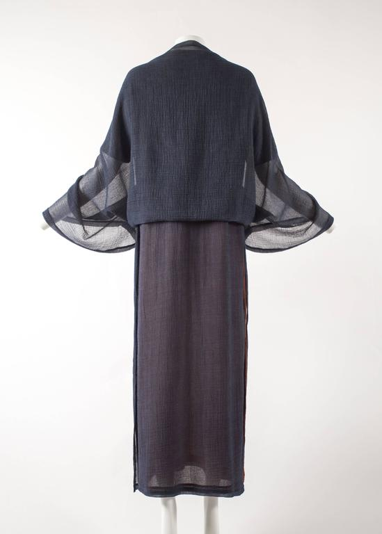 Issey Miyake 1990s layered shirt dress with attached cardigan  7