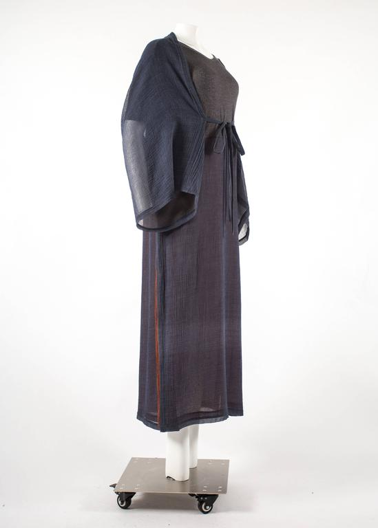 Issey Miyake 1990s layered shirt dress with attached cardigan  8