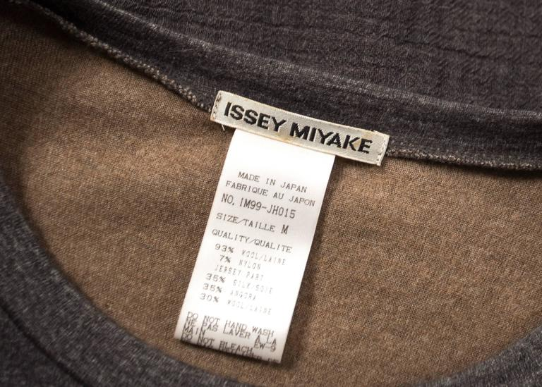 Issey Miyake 1990s layered shirt dress with attached cardigan  10