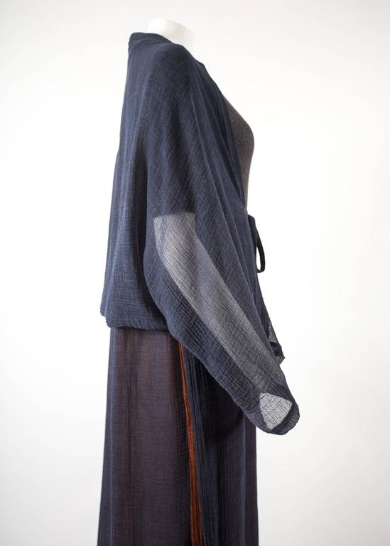 Issey Miyake 1990s layered shirt dress with attached cardigan  9