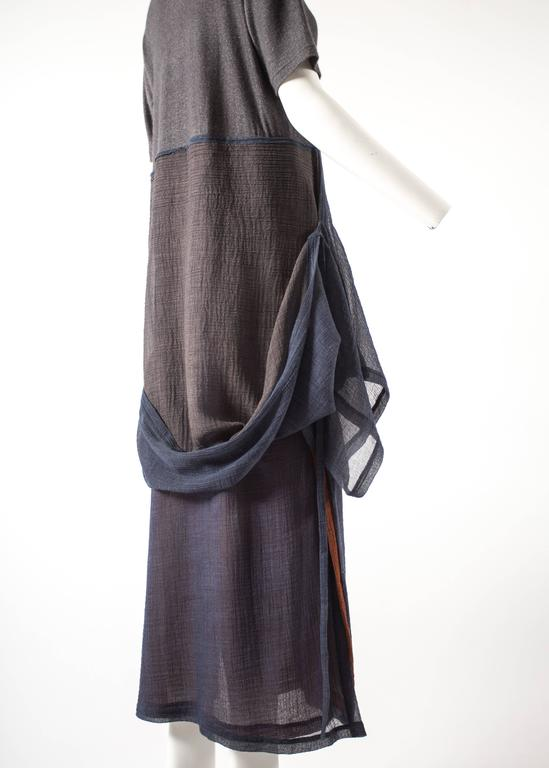 Issey Miyake 1990s layered shirt dress with attached cardigan  6