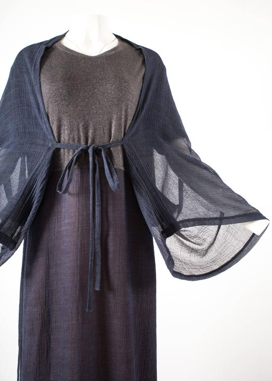 Issey Miyake 1990s layered shirt dress with attached cardigan  5