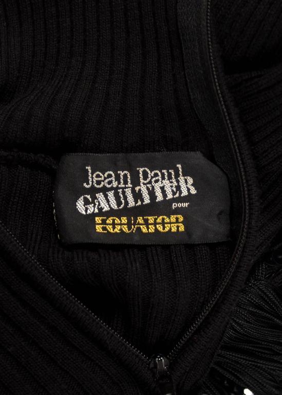 Jean Paul Gaultier Autumn-Winter 1985 black rib knit evening dress  For Sale 3