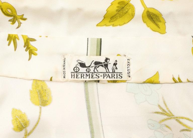 Hermes 1970s 'Romantique' couture silk floral maxi dress  7