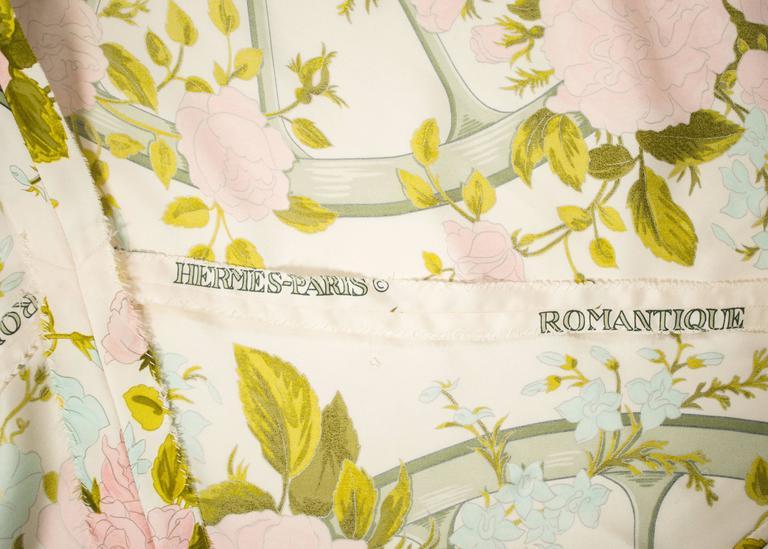 Hermes 1970s 'Romantique' couture silk floral maxi dress  8