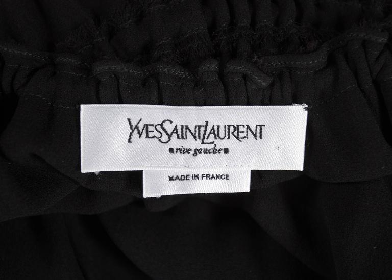 Tom Ford for Yves Saint Laurent Autumn-Winter 2001 black pleated maxi skirt For Sale 3