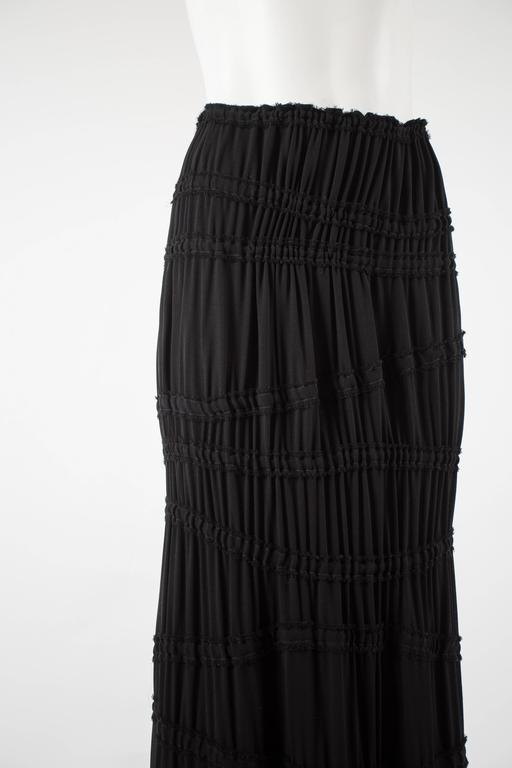 Tom Ford for Yves Saint Laurent Autumn-Winter 2001 black pleated maxi skirt In Excellent Condition For Sale In London, GB