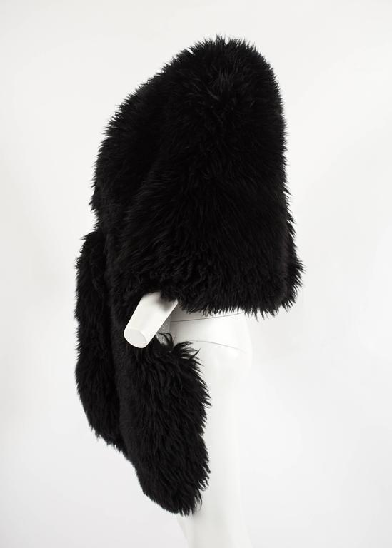 Vivienne Westwood Autumn-Winter 1992 oversized black sheepskin shawl 4