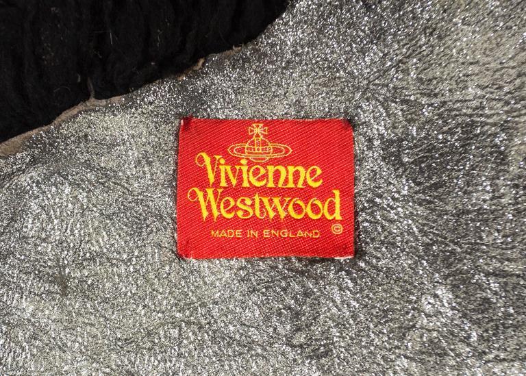 Vivienne Westwood Autumn-Winter 1992 oversized black sheepskin shawl 6