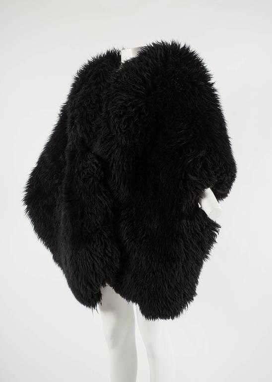 Vivienne Westwood Autumn-Winter 1992 oversized black sheepskin shawl 3