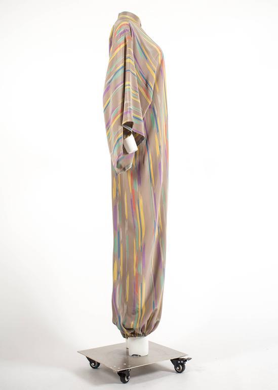 Issey Miyake Autumn-Winter 1976 silk harem jumpsuit with Tadanori Yokoo print 8