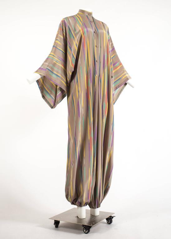Issey Miyake Autumn-Winter 1976 silk harem jumpsuit with Tadanori Yokoo print 3