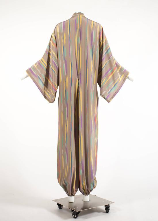 Issey Miyake Autumn-Winter 1976 silk harem jumpsuit with Tadanori Yokoo print 6