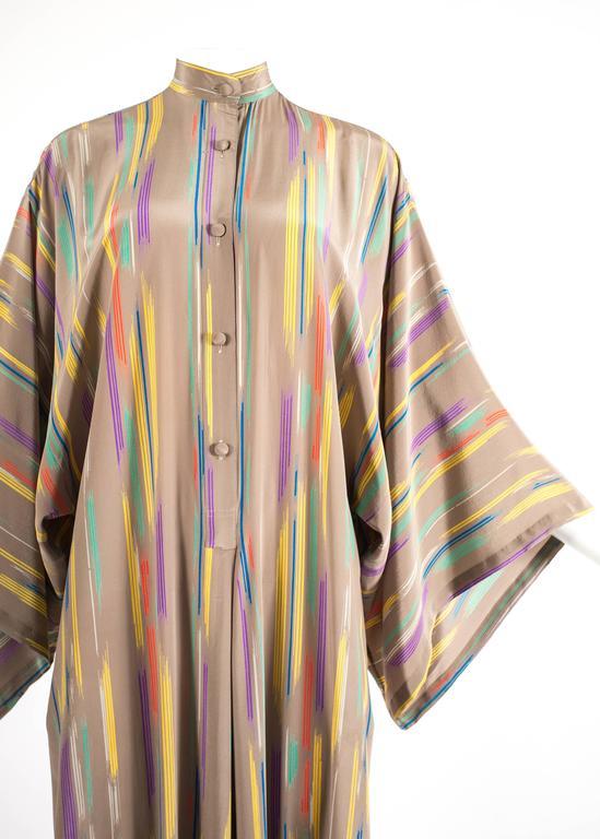 Issey Miyake Autumn-Winter 1976 silk harem jumpsuit with Tadanori Yokoo print 4