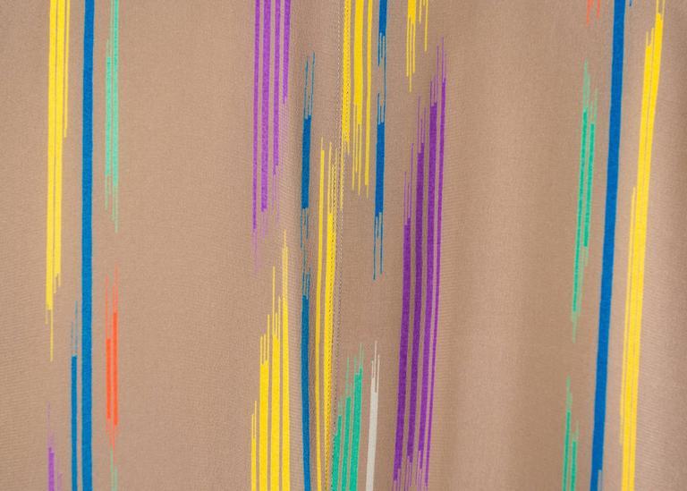 Issey Miyake Autumn-Winter 1976 silk harem jumpsuit with Tadanori Yokoo print 9