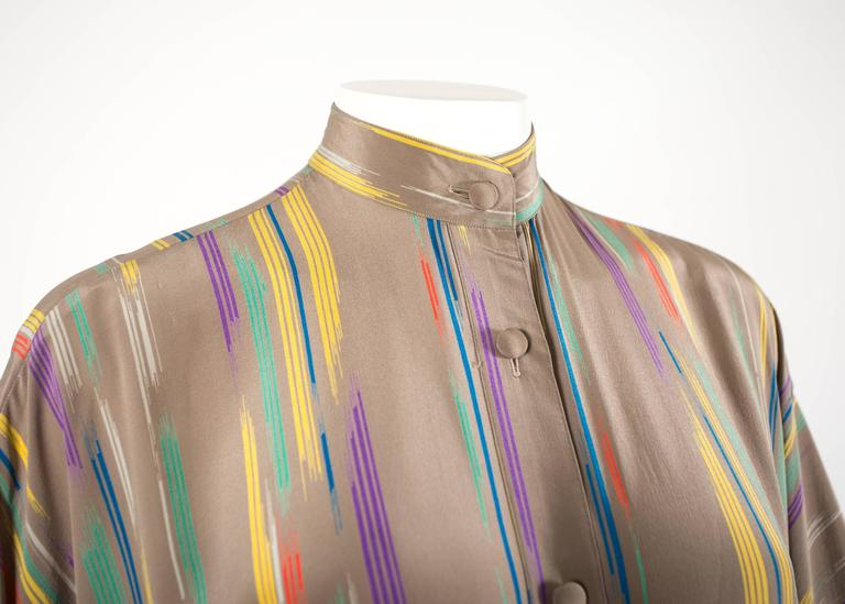 Issey Miyake Autumn-Winter 1976 silk harem jumpsuit with Tadanori Yokoo print 5