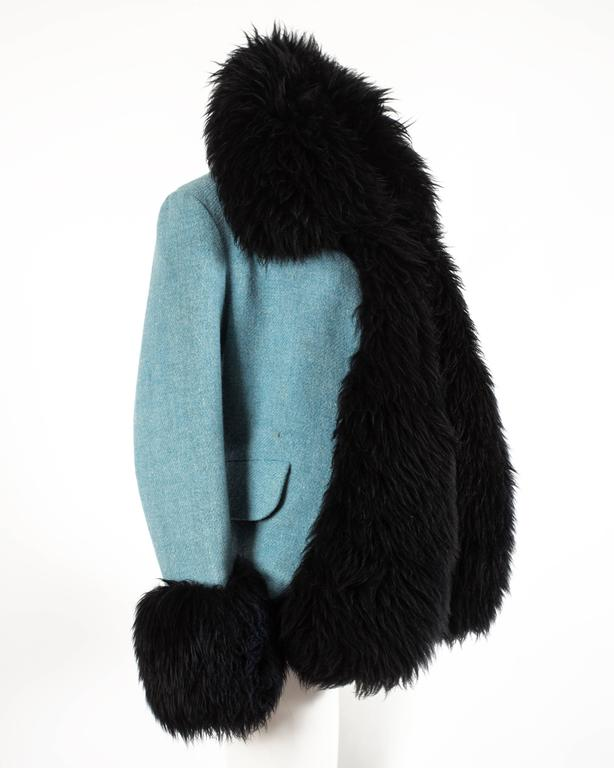 Vivienne Westwood Autumn-Winter 1991 Harris Tweed jacket with sheepskin 4