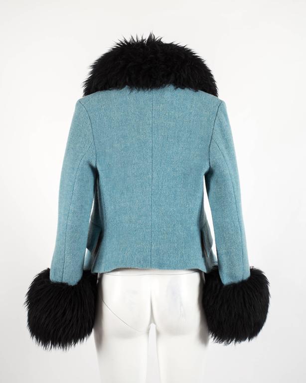 Vivienne Westwood Autumn-Winter 1991 Harris Tweed jacket with sheepskin 5