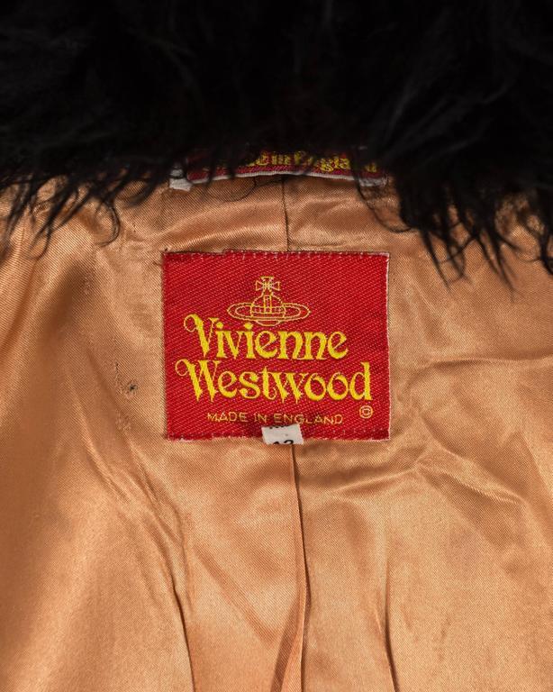 Vivienne Westwood Autumn-Winter 1991 Harris Tweed jacket with sheepskin 8