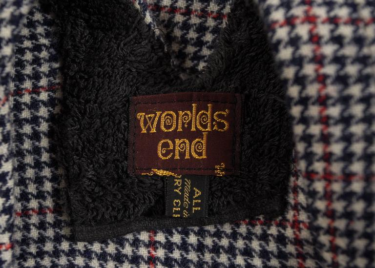 Worlds End Autumn-Winter 1983 'Witches' checked wool dress 7