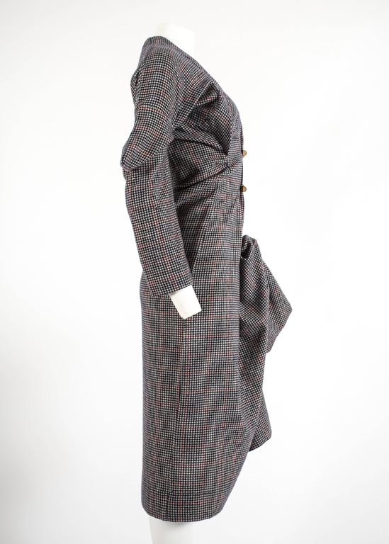 Worlds End Autumn-Winter 1983 'Witches' checked wool dress 5