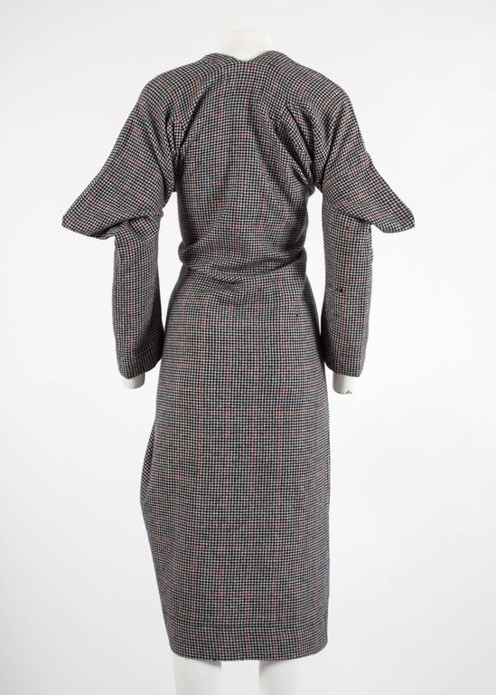 Worlds End Autumn-Winter 1983 'Witches' checked wool dress 6