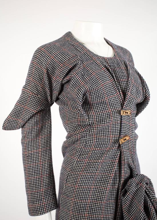 Worlds End Autumn-Winter 1983 'Witches' checked wool dress 3