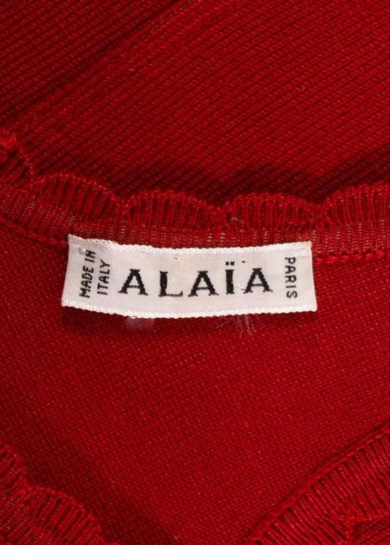 Alaia Spring-Summer 1992 red spandex knit bodysuit  7