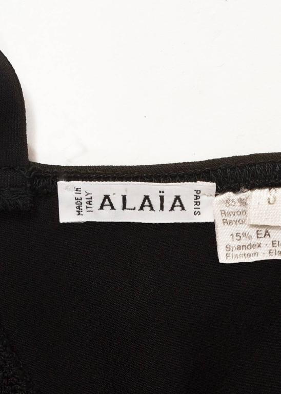 Alaia Spring-Summer 1990 black spandex knit bodysuit 6