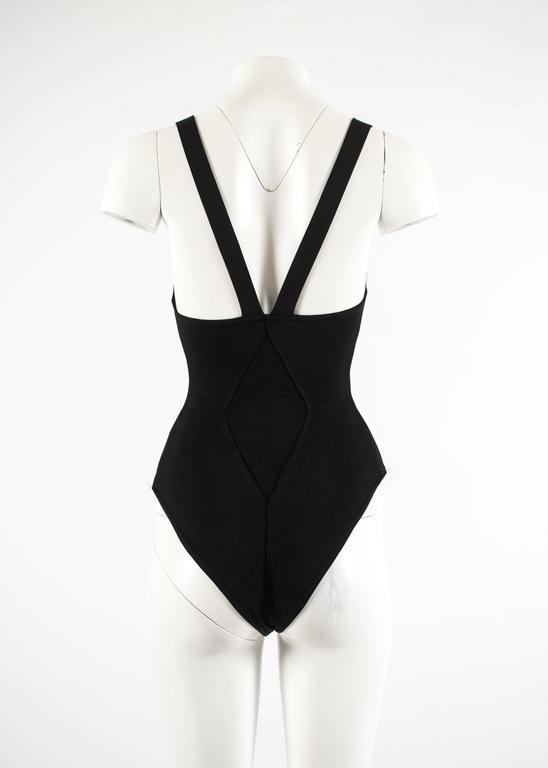 Alaia Spring-Summer 1990 black spandex knit bodysuit 5