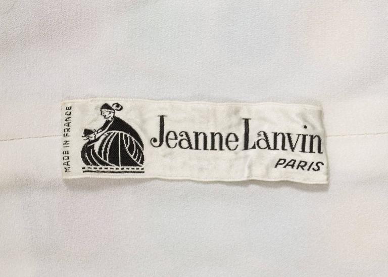 Jeanne Lanvin Spring-Summer 1968 Haute Couture embellished evening vest For Sale 4