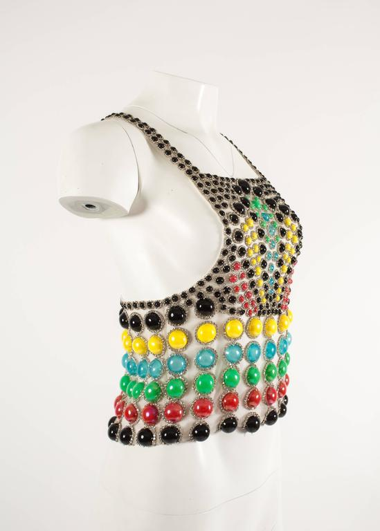 Women's Jeanne Lanvin Spring-Summer 1968 Haute Couture embellished evening vest For Sale