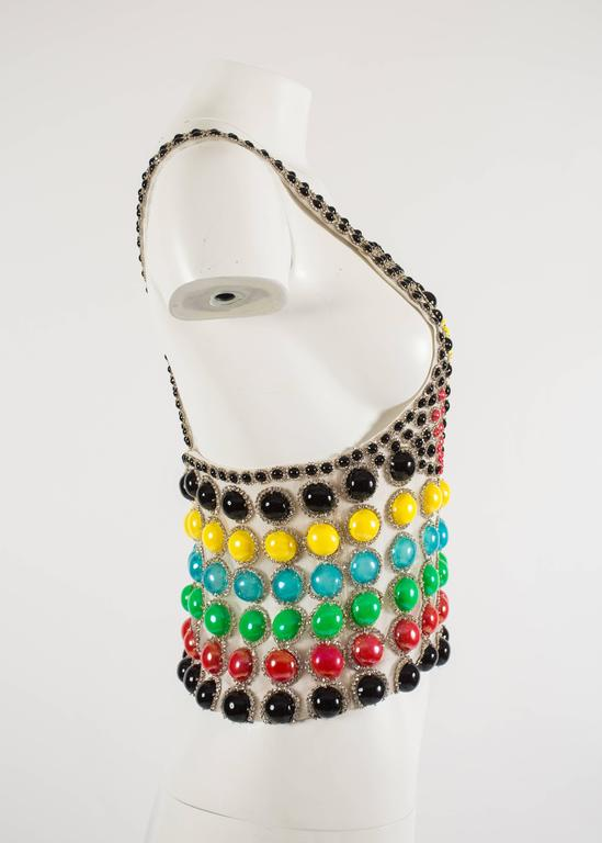 Jeanne Lanvin Spring-Summer 1968 Haute Couture embellished evening vest For Sale 2