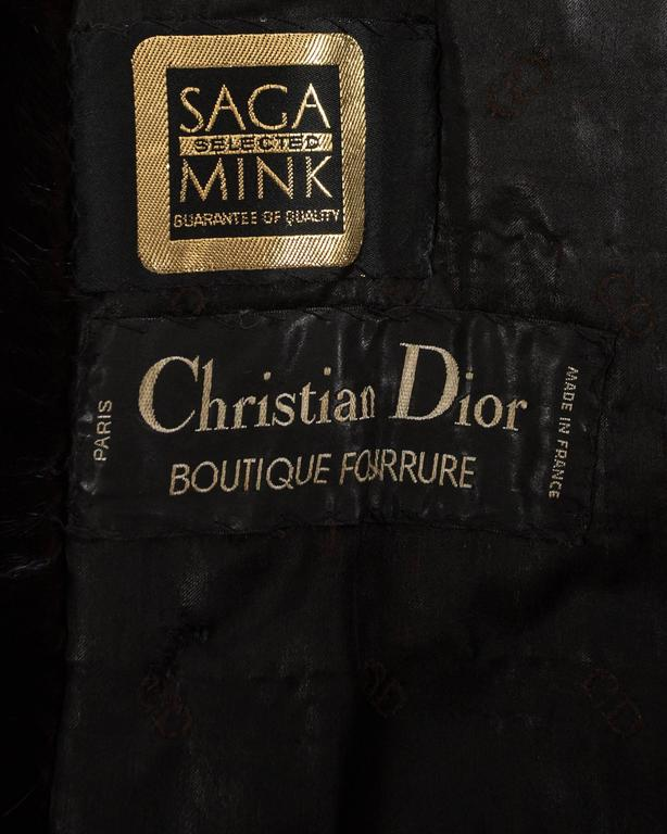 Christian Dior 1970s brown mink poncho with lambskin leather tassels  For Sale 3