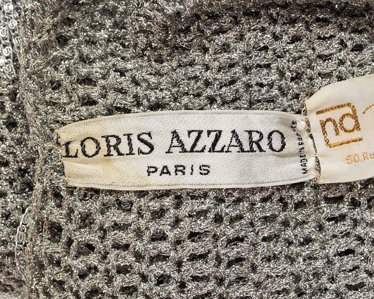 Loris Azzaro 1970 silver chain and lurex knit evening sweater 7