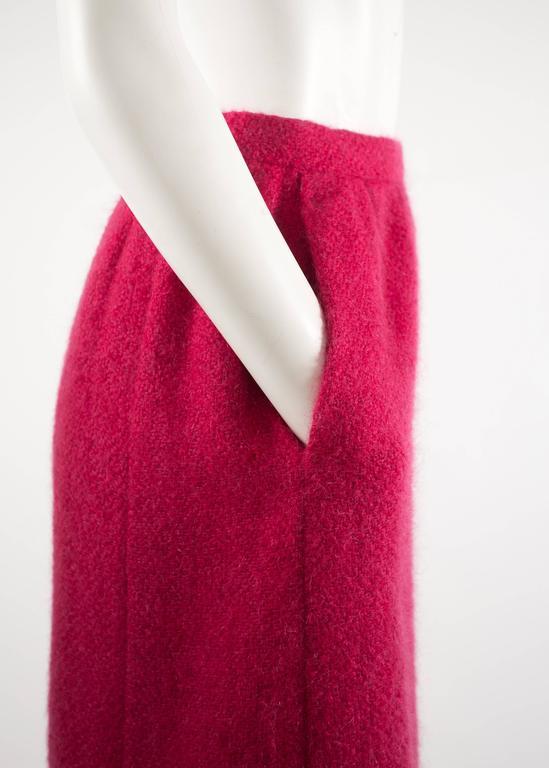 Balenciaga 1961 Haute Couture Cerise wool skirt suit  7