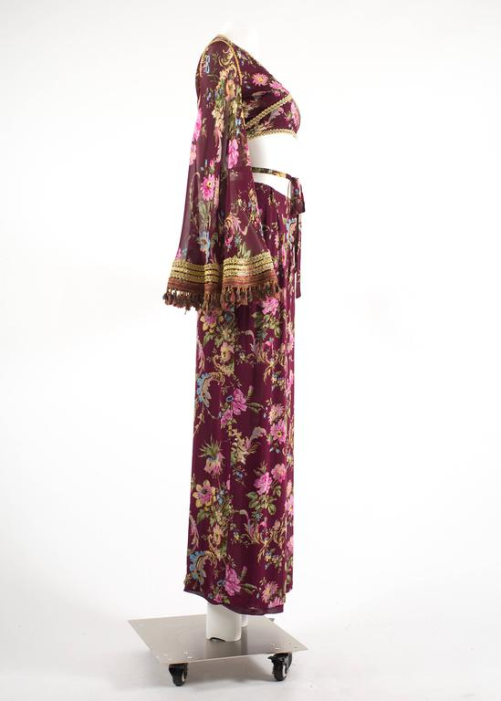 Dolce & Gabbana Spring-Summer 1994 silk chiffon gypsy pant suit  For Sale 2