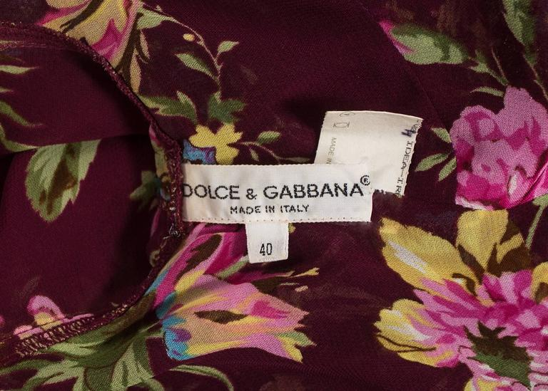 Dolce & Gabbana Spring-Summer 1994 silk chiffon gypsy pant suit  For Sale 4