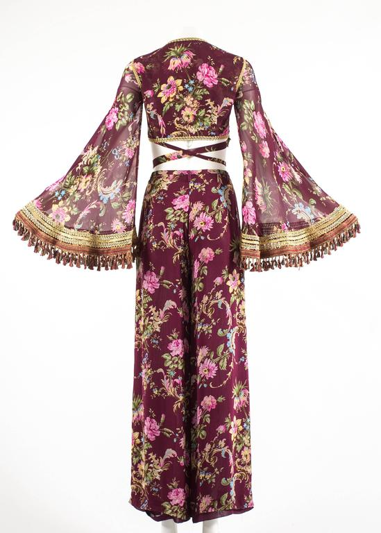 Dolce & Gabbana Spring-Summer 1994 silk chiffon gypsy pant suit  For Sale 3