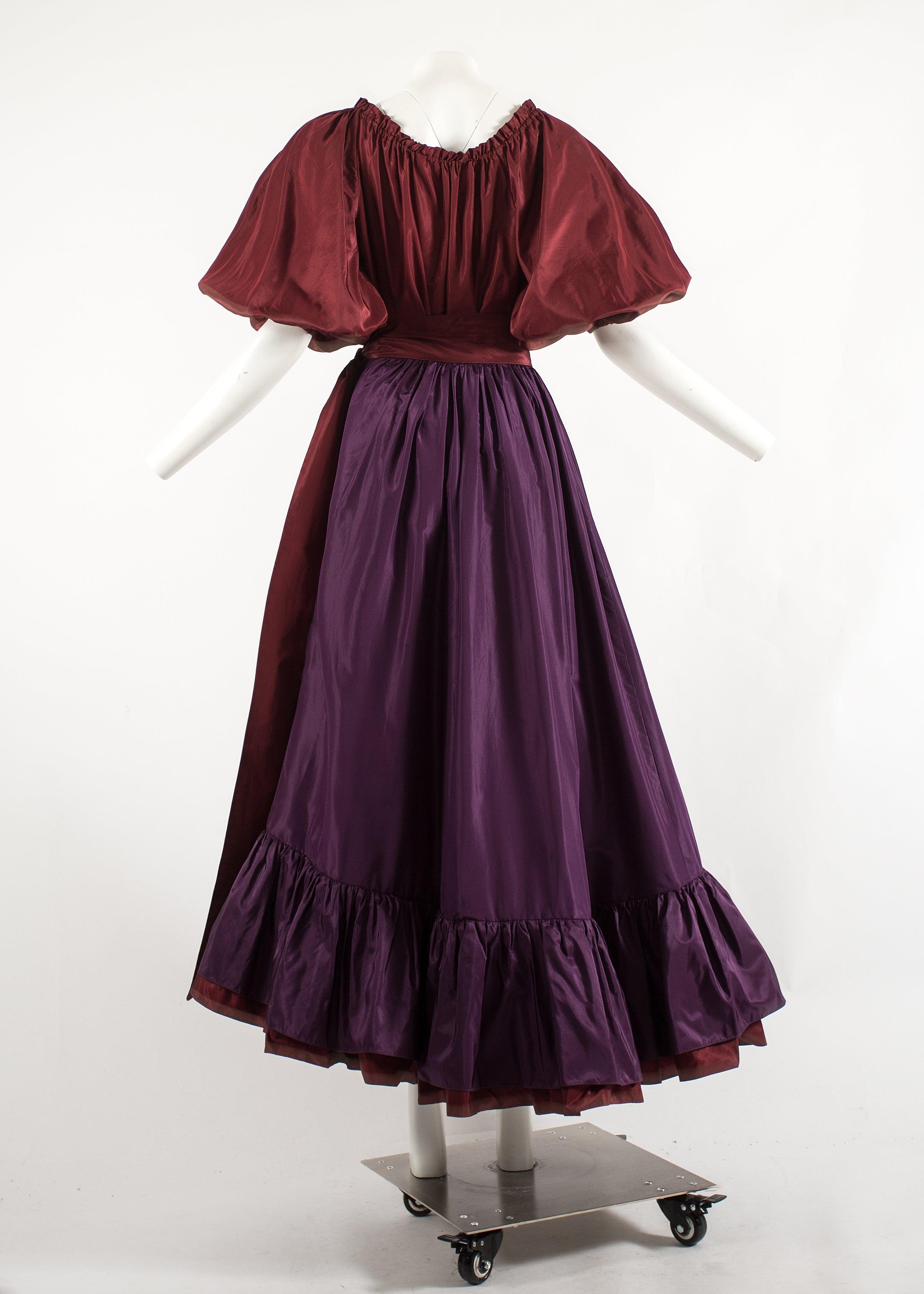 3b4a6b859c5 Yves Saint Laurent 1978 silk taffeta blouse and skirt ensemble For Sale at  1stdibs